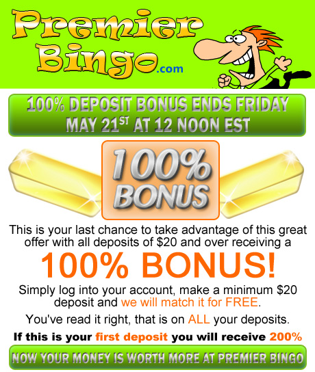 100% Deposit Bonus on ALL Deposits